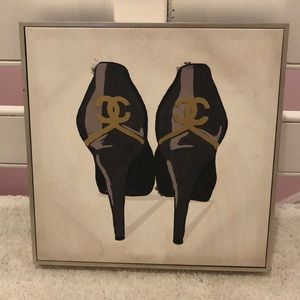 Chanel shoes canvas art